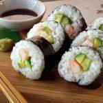 Sushi con camarones - preparación fácil para principiantes